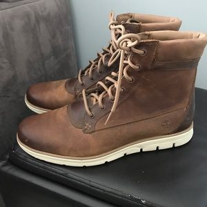 Mens 9.5 timberland work boots WORN ONCE